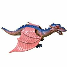 Pink and Blue Dragon with Wings Plastic Toy
