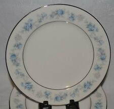"Noritake Ivory China Splendor #7235 Blue Lilac Flower 8"" Luncheon Salad Plate 1"