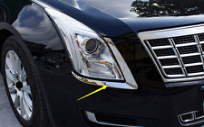 2PCS stainless front Eyebrow lights cover trim For Cadillac XTS 2015-2017