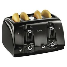 Sunbeam 4-Slice Extra-Wide Slot Toaster, Black, TSSBTR4SBK