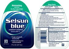 Selsun Blue Dandruff Shampoo Moisturizing with Aloe for Dry Scalp 7 oz
