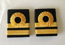 Gold Lace Rank Slides, RN, Lieutenant, Royal Navy, Lt, Military