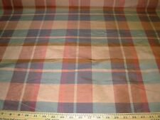 "~BTY~FABRICUT~100% SILK""GODWIN"" PLAID~DRAPERY UPHOLSTERY FABRIC FOR LESS~"