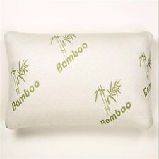 Luxury Bamboo Memory Foam Pillow Fabric Fibre Cover 65x45cm