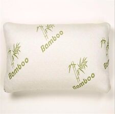 New Bamboo Memory Foam Pillow Fabric Fibre Cover 65x45cm Comfort Home