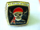 GASPARILLA GOLD TONE CLASS RING SZ 13 PIRATE SKULL PARADE RED SCARF RHINSTONES