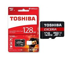 128GB Micro SD TOSHIBA Speicherkarte SDXC + SD-Adapter max. 48MB/s UHS-1 EXCERIA