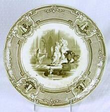 Antique 1800s Podmore Walker Minerva Pearl Stone Transferware Dinner Plate (HH)