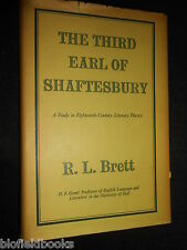The Third Earl of Shaftesbury by R L Brett - 1951-1st - Historical Biography HB
