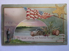 1909 All Quiet along the Potomac To-night postcard Patriotic themed