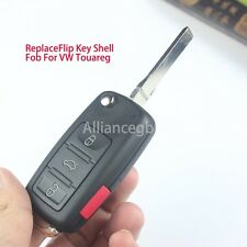 Flip Remote key FOB Uncut Blade Replacement For VW Volkswagen Touareg Remote