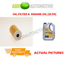 DIESEL OIL FILTER + LL 5W30 ENGINE OIL FOR KIA OPTIMA 1.7 136 BHP 2012-