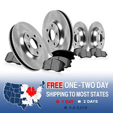 Front and Rear Brake Rotors & Metallic Pads Pair 1999 2000 2001 AUDI A4 QUATTRO