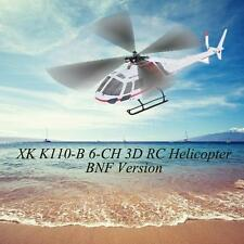 XK AS350 K123-B 6CH 3D 6G SYSTEM BRUSHLESS MOTOR BNF RC HELICOPTER HOT SALE E4T2