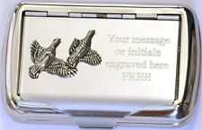 Partridge Tobacco Hand Rolling Ups Cigarette Tin Game Bird Shooting Keeper Gift
