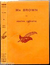 AGATHA CHRISTIE # MR BROWN # EO 1948 masque n°57