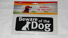 BEWARE OF THE DOG WARNING SIGN ADHESIVE&FIXING WITH SCREWS ENTER ATYOUR OWN RISK