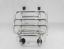 BRAND NEW VESPA PX LML STAR SPEEDY STELLA FRONT RACK/CARRIER CHROME