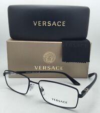 New VERSACE Eyeglasses 1198 1261 55-17 Black Rectangular Frames w/Clear Lenses