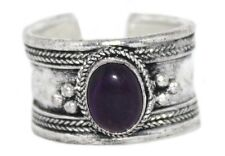 Amethyst ring healing ring Silver ring Nepal ring Tibetan ring Boho Ring Adjust