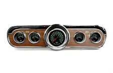66 Mustang 5 Gauge Wood Grain Cluster w/Comp 2 LED 60's Muscle Car Gauges USA