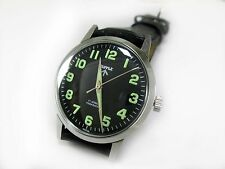100% AUTHENTIC VINTAGE HMT MILITARY LUME 17J WINDING WRIST WATCH FOR MENS WEAR