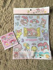 New! My melody Wall stickers & small Magnet sheet, Sanrio KAWAII f/s Japan