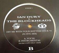 "Ian Dury & The Blockheads Hit me with your rhythm stick '91 12"" vinyl single"