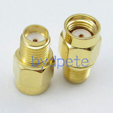 2pcs SMA female Jack To RP-SMA male Jack Straight RF Connetor Adapter