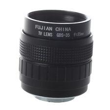 35mm f1,7 C Mount CCTV Objektiv Schwarz fuer M4/3 Kamera Olympus PEN E-PL5  DKKO
