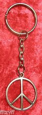 Peace CND Symbol Keyring Anti War Key Ring
