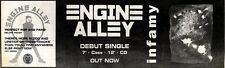 """31/10/92PGN10 ENGINE ALLEY : INFAMY SINGLE ADVERT 3X11"""""""
