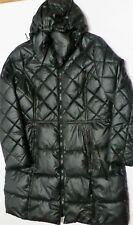 womens large Apt 9 Womens Quilted Hooded Puffer Jacket Black coat winter warm