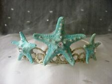 Beach Wedding Starfish Mermaid Tiara Crown Turquoise Blue