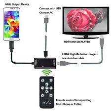 MHL Micro USB 1080P HDMI HDTV Adapter Remote Control for Samsung Galaxy S5 S4