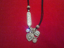 STUNNING MIGLIO SWAROVSKI CRYSTAL NECKLACE N1011 BURNISHED SILVER & CRYSTAL BNWT