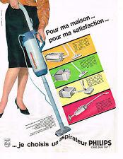 PUBLICITE ADVERTISING 014   1964   PHILIPS    aspirateurs  2