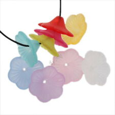 100x 161314 New Wholesale Mixed Colorful Six Petal Flower Acrylic Spacer Beads