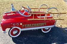 "Vintage Pedal Car Fire Fighter Engine 23 FD No 1 Red Truck 41"" x 21"" x 18"" EUC"