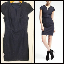 NWT Banana Republic, Seamed Denim Dress, Navy Blue, Sz 6