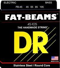 DR FB-45 (MM-45) FAT BEAMS STAINLESS STEEL BASS STRINGS, MED. GAUGE 4's, 45-105