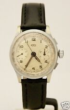 Vintage Royce Chronograph Hand-Winding Lemania 34mm Silver Dial Circa 1970 Watch