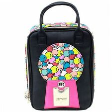 Betsey Johnson Women's Bubble Gumball Black/Multi Insulated Lunch Tote Bag