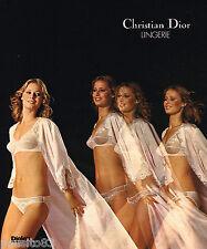 PUBLICITE ADVERTISING 055  1976  DIOR  lingerie sous vetements soutien gorge