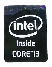 INTEL CORE i3  HASWELL BLACK STICKER LOGO AUFKLEBER 16x21mm (266)
