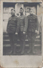 1910s RP POSTCARD WW1 WORLD WAR ONE GROUP OF AMERICAN DOUGHBOY SOLDIERS 1 ID'd