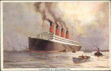Steamship Cunard Line at Southampton c1915 Postcard