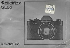 Rolleiflex SL35 Original Instruction Manual User Guide In Practical Use