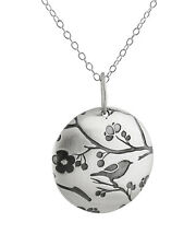 Songbird Necklace - 925 Sterling Silver Bird Charm Jewelry *NEW* Sparrow Swallow