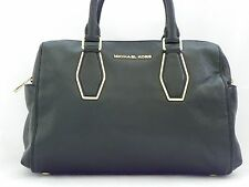 MICHAEL KORS VANESSA MEDIUM CHAIN SATCHEL BLACK GOLD/with defect